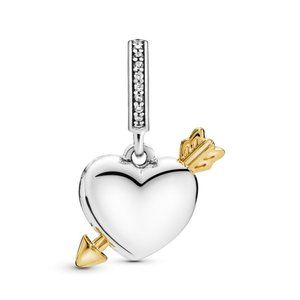 Pandora Loved Heart & Arrow Dangle Charm